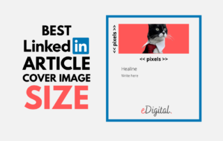 Best Linkedin article cover header image size pixels optimal