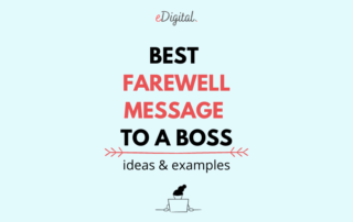 Best farewell message to a boss ideas examples