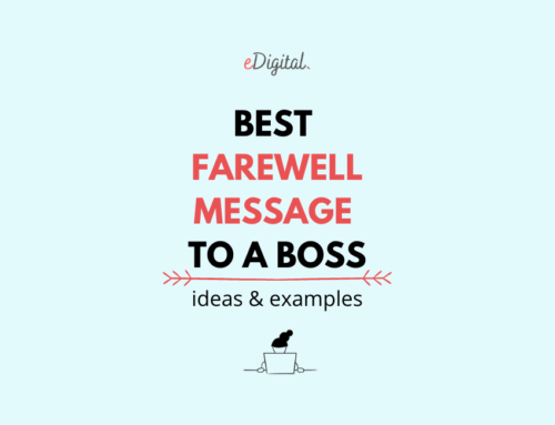 THE BEST FAREWELL MESSAGE TO A BOSS – SAMPLES