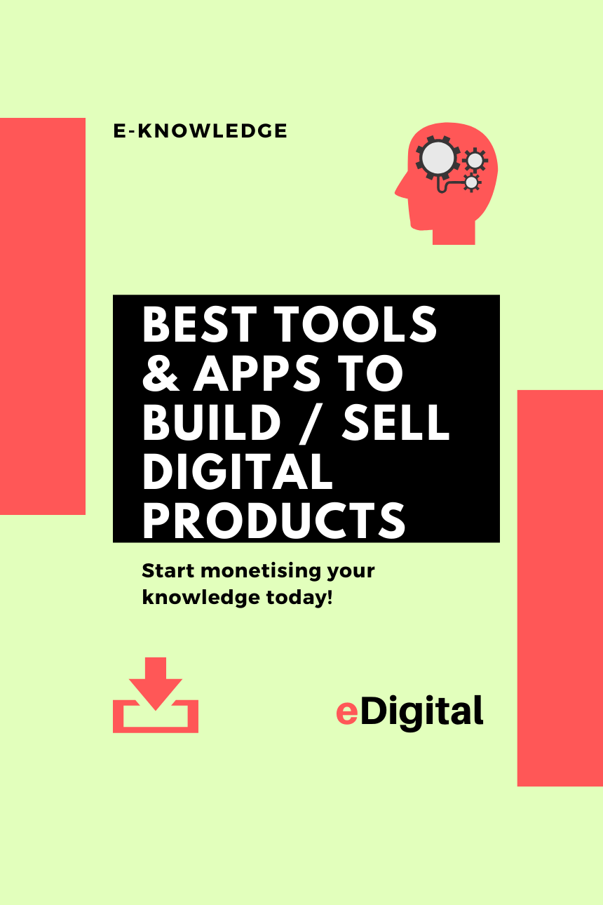 Best tools apps to build sell digital products list