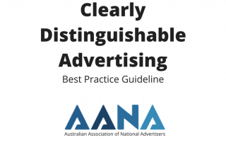 Clearly Distinguishable-Advertising Best Practice Guideline Australian Association of National Advertisers Cover Image