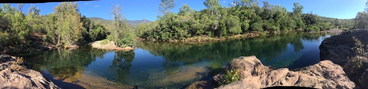 Crystal Creek Panoramic view Paluma Range National Park Charters Towers area Queensland