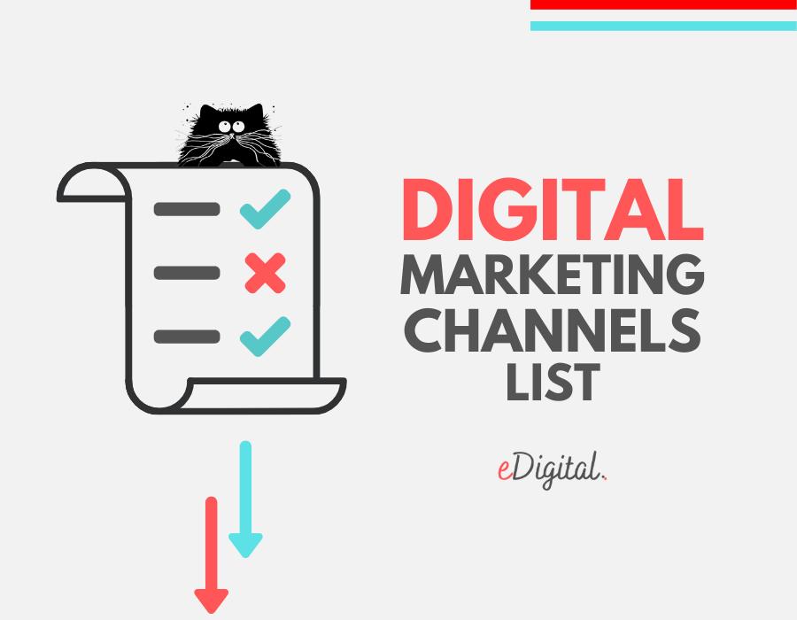 Digital Marketing Channels list