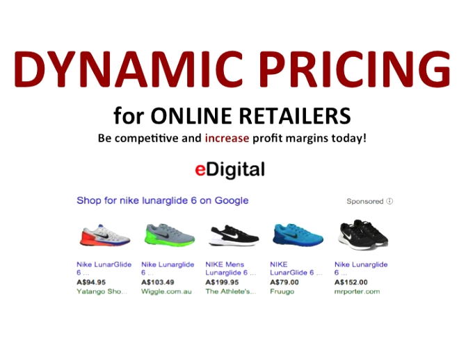 Dynamic Pricing for Online Retailers Strategy Software Implementation Services examples definition by eDigital