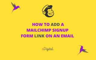How to add a Mailchimp signup form link on an email