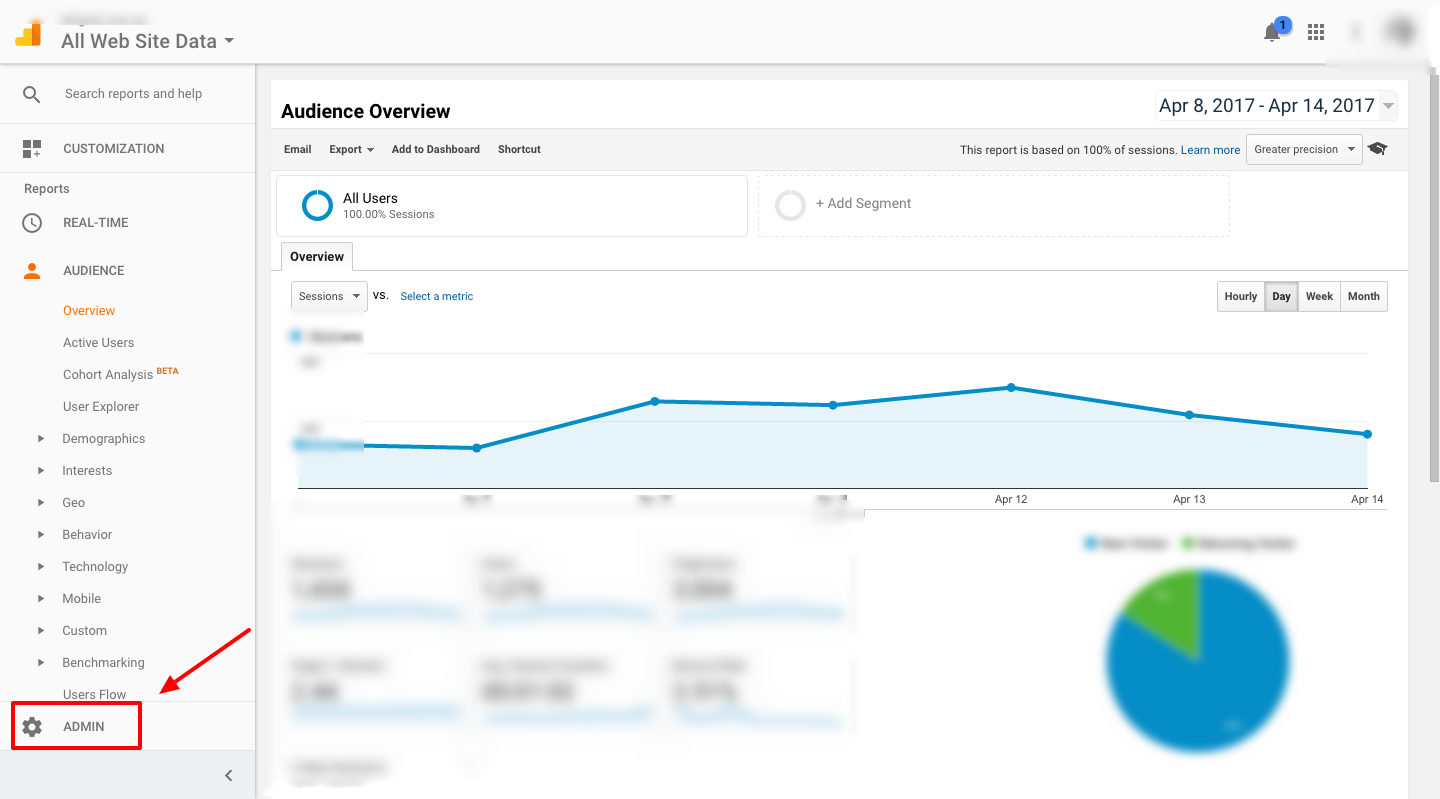 How to configure goals google analytics go to admin section