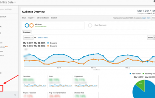 How to find the Admin Tab Google Analytics
