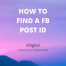 How to find a facebook post id url