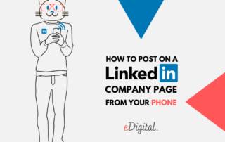 How to post on a Linkedin company page from phone