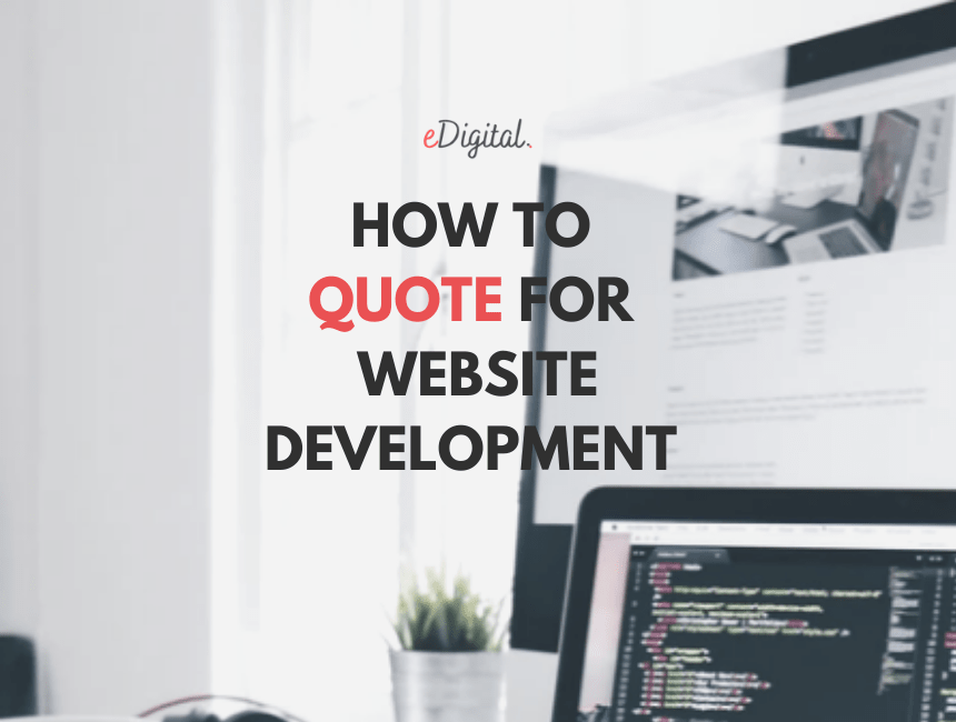 How to quote for a website development project