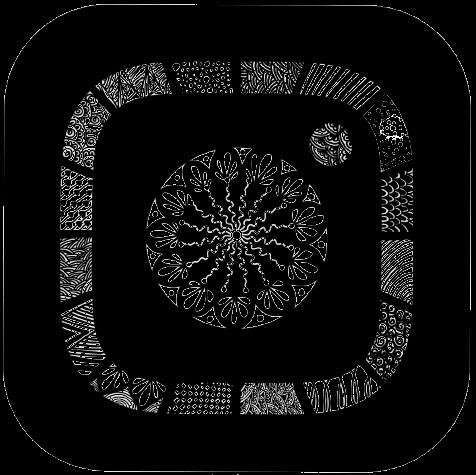 Instagram logo black psychedelic