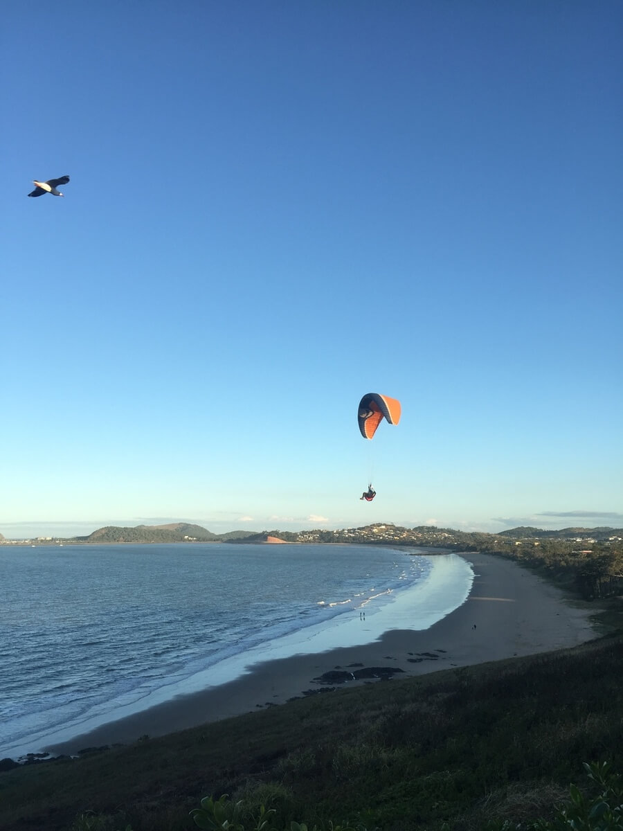 Lammermoor beach Yeppoon paragliding tandem flight Queensland