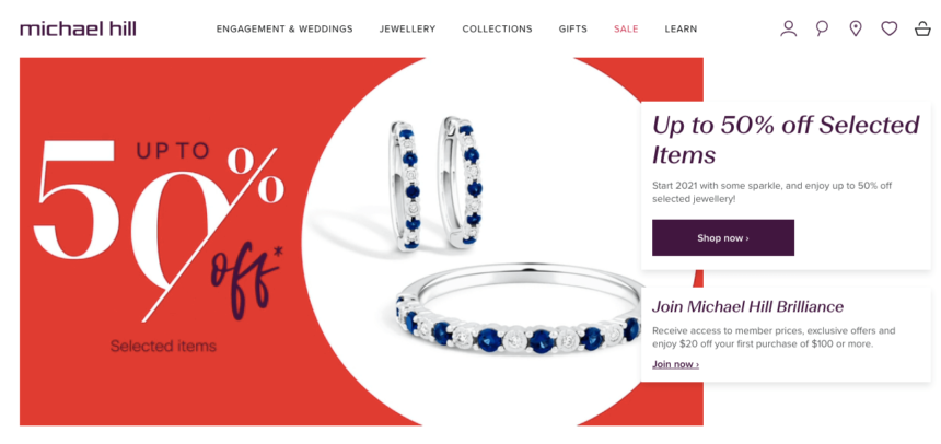 Michael Hill January sale deals offers Jewellery