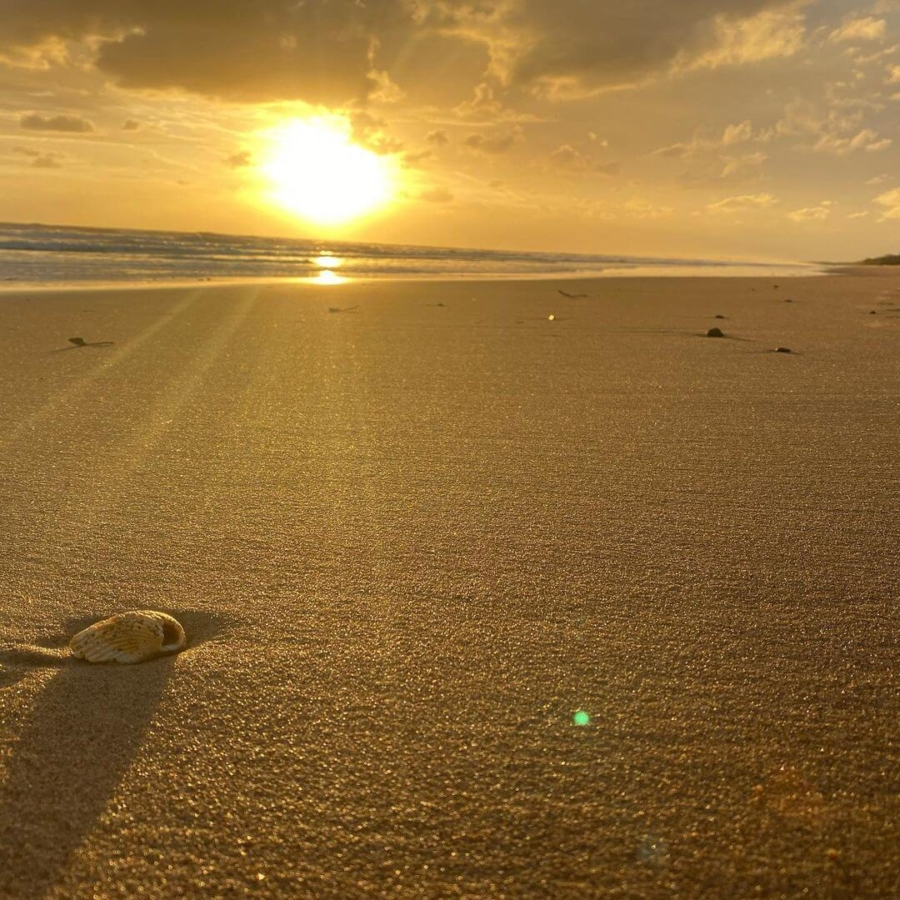 Moore Park Beach Bundaberg Qld sand sunrise