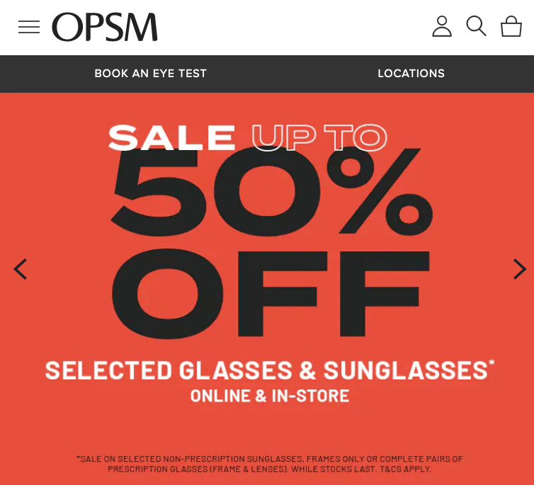 OPSM January sale deals offers glasses