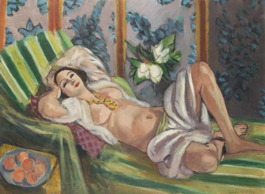 Odalisque couchée aux magnolias Henri Matisse