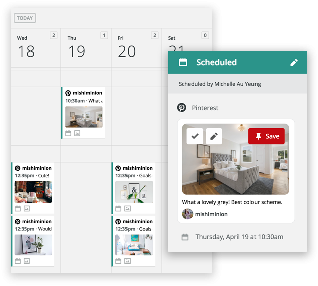 Pinterest scheduling tool dashboard hootsuite