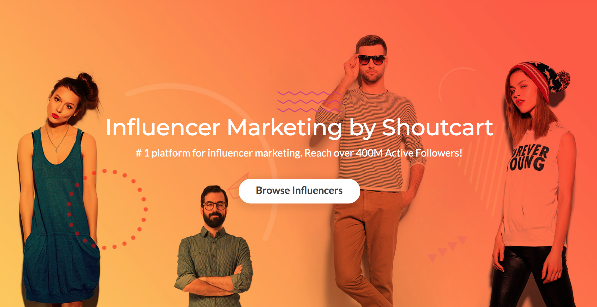Shoutcart influencers marketing platform 400 million