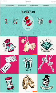 Tiffany Tattoo Shop Valentines day Marketing Campaign 2018
