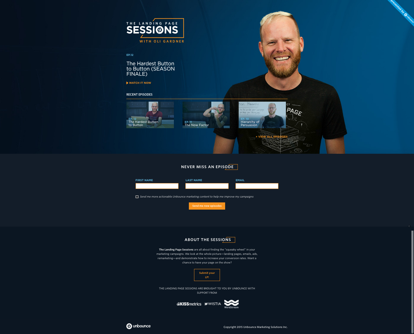 Unbounce Landing Page Sessions Oli Gardner