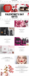 Valentine's Day Gifts The Body Shop Marketing Campaign 2018