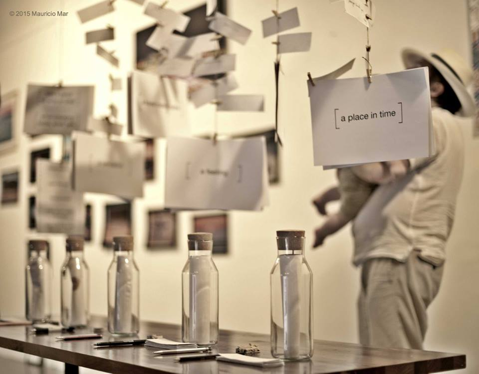 a memory of a place olfactory art installation bottles smell scents