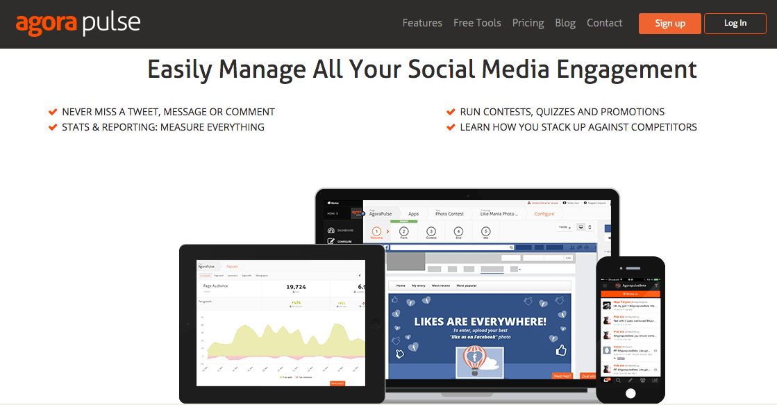 agora pulse social media contests competitions management tool