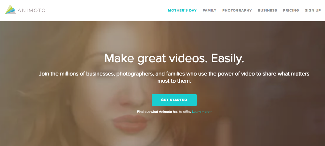 animoto make videos from photos editor tool