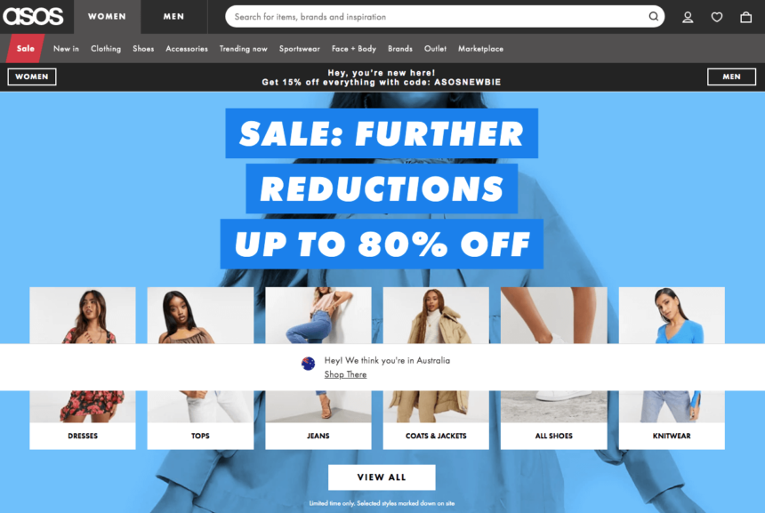 asos january sales offers deals