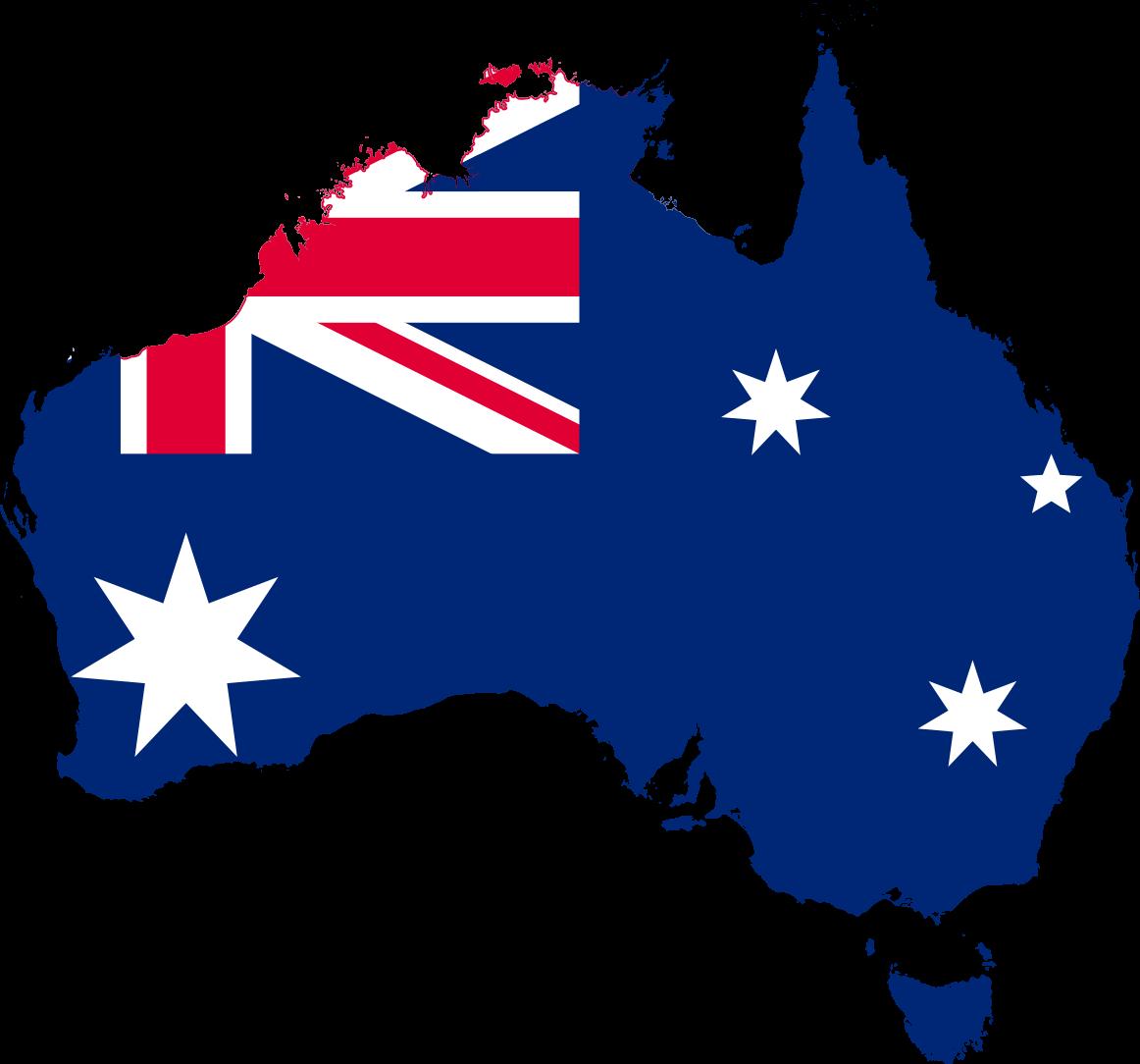 australia flag map image png