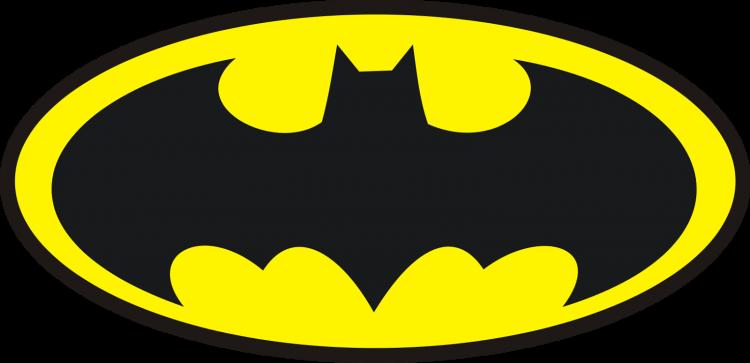 batman logo png black yellow transparent background