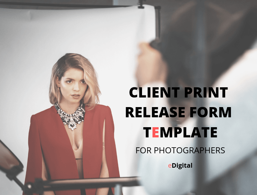 best client print release form template pdf photography