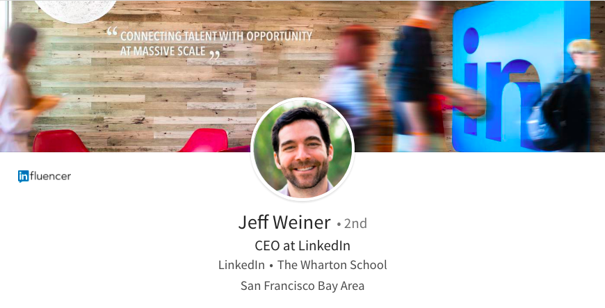 best linkedin header photo tips office logo people passing by jeff winer ceo