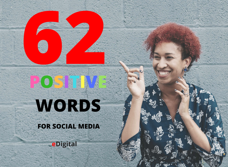 best positive words for social media commentary