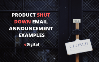 best product shut down email announcement examples