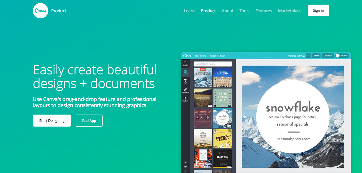 Canva free online design photo image editing tool platform