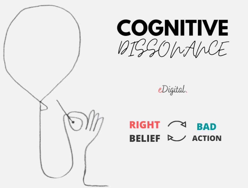 cognitive dissonance right belief bad action