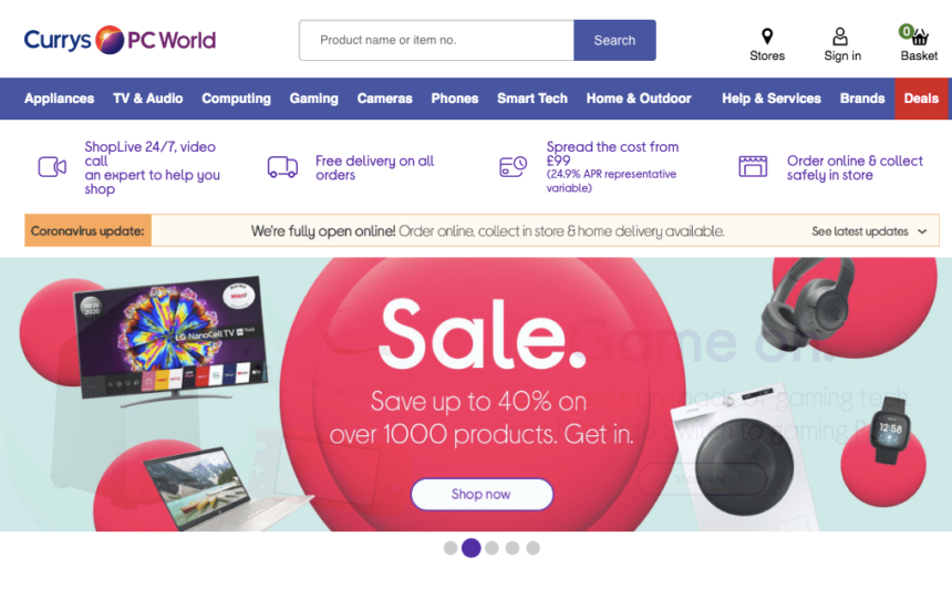 currys january sales offers deals