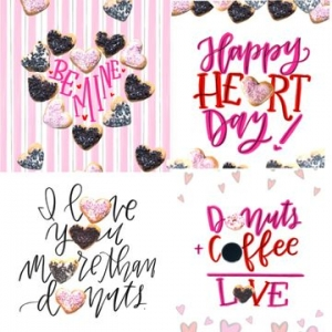 dunkin donuts valentines day wallpapers mobile phone marketing campaign 2018