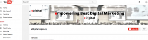 edigital youtube channel background cover image photo example