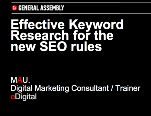 KEYWORD RESEARCH FOR THE NEW SEO RULES – CONFERENCE
