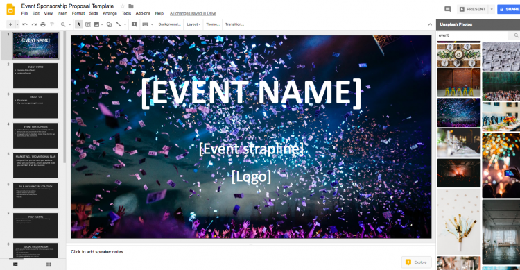 event sponsorship proposal template google slides