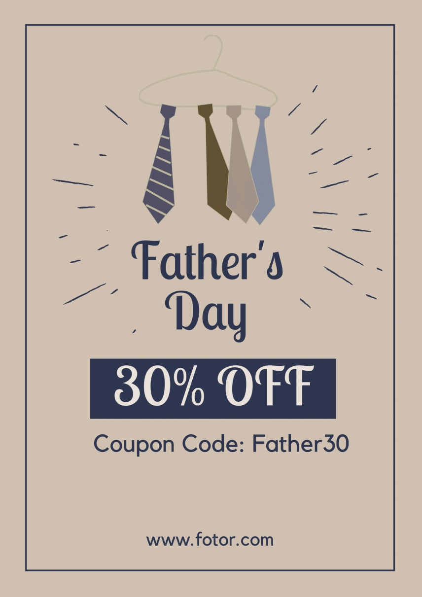 father's day promotion fotor 30 percent off photo editing tool