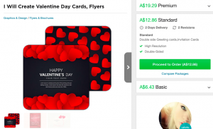 fiverr valentines day cards flyers best deal gig