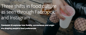 food culture trend Facebook IQ Instagram