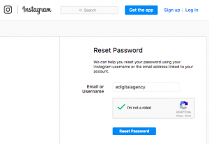 forgot instagram password how to reset it add email or username confirm not robot