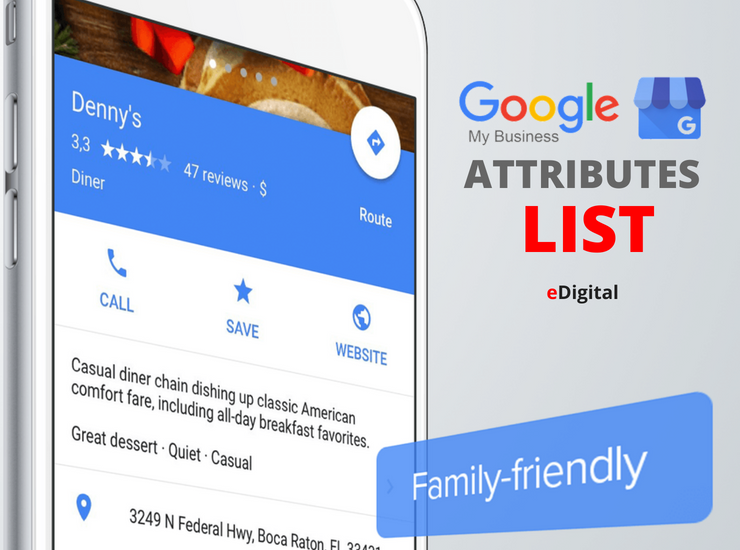 google my business attributes list download
