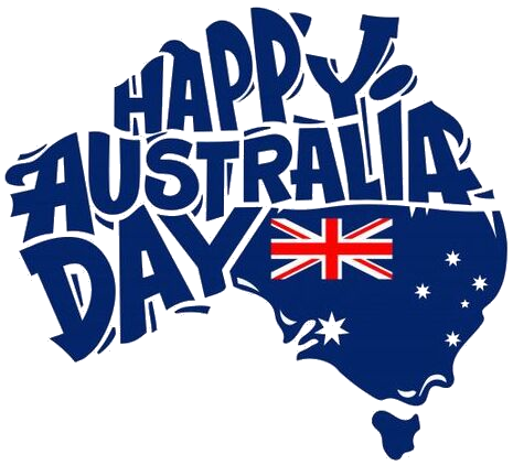 happy australia day map flag png