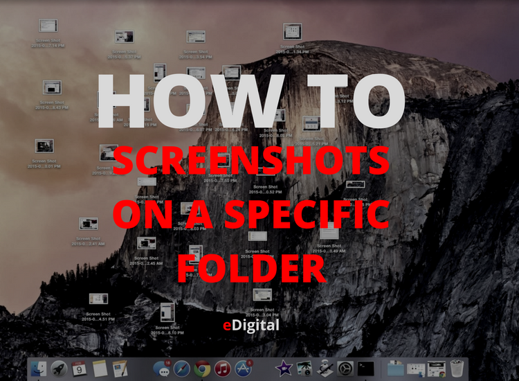 how save screenshots on folder mac