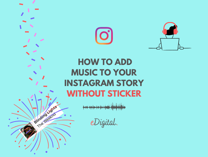 how to add music instagram story without sticker business account
